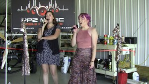 Ivy Smith & Libby Scott singing karaoke